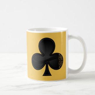 Clubs Symbol For Card Sharks and Gambler Basic White Mug