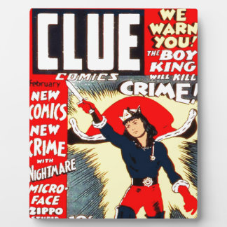 Clue Boy Plaque
