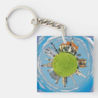 cluj napoca city romania little planet landmark ar key ring