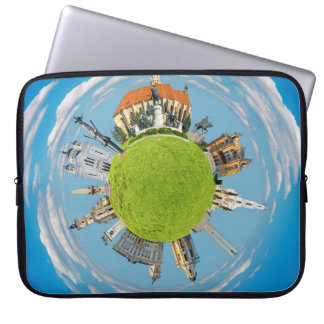 cluj napoca city romania little planet landmark ar laptop sleeve