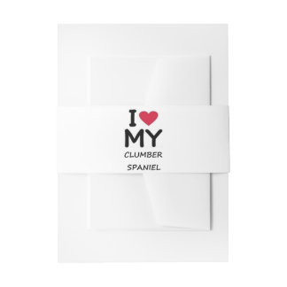 clumber love invitation belly band