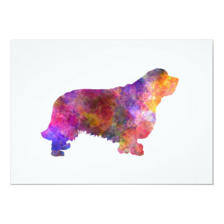 Clumber Spaniel 01 in watercolor-2 Card