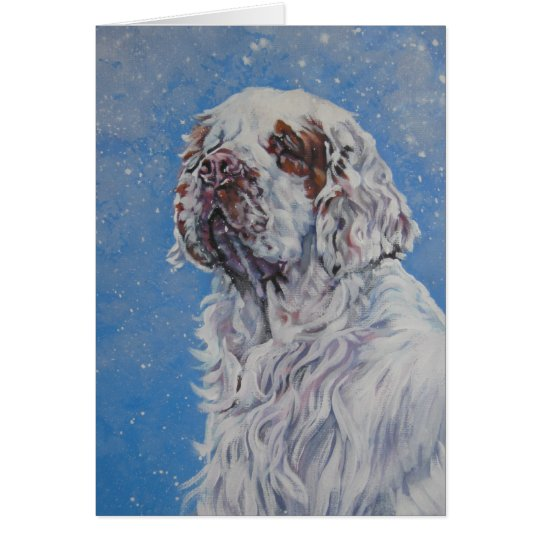Clumber Spaniel Christmas Card