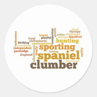 Clumber Spaniel Classic Round Sticker