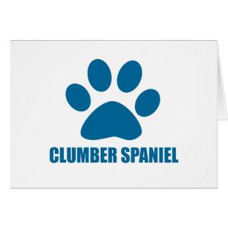 CLUMBER SPANIEL DOG DESIGNS CARD