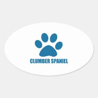 CLUMBER SPANIEL DOG DESIGNS OVAL STICKER