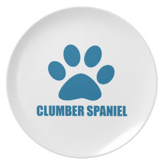 CLUMBER SPANIEL DOG DESIGNS PLATE