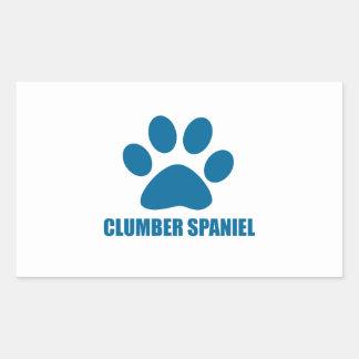 CLUMBER SPANIEL DOG DESIGNS RECTANGULAR STICKER