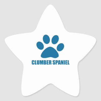 CLUMBER SPANIEL DOG DESIGNS STAR STICKER