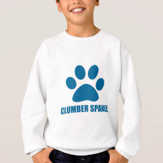 CLUMBER SPANIEL DOG DESIGNS SWEATSHIRT