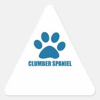 CLUMBER SPANIEL DOG DESIGNS TRIANGLE STICKER