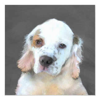 Clumber Spaniel Magnetic Card