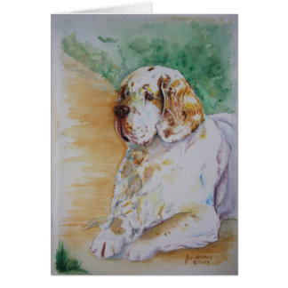 Clumber Spaniel - My Friend Greeting Card