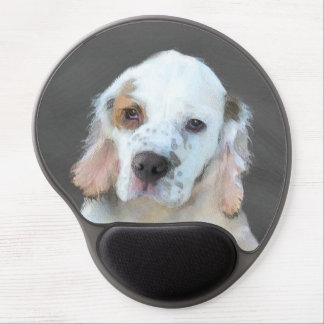 Clumber Spaniel Painting - Cute Original Dog Art Gel Mouse Pad