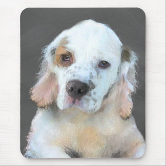 Clumber Spaniel Painting - Cute Original Dog Art Mouse Pad