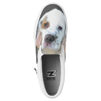 Clumber Spaniel Painting - Cute Original Dog Art Slip-On Shoes