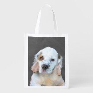 Clumber Spaniel Reusable Grocery Bag