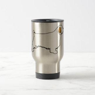 clumber spaniel travel mug
