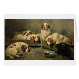 Clumber Spaniels & a Mouse, Card