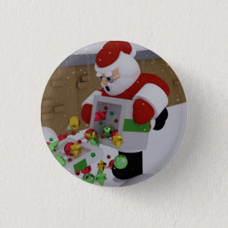 Clumsy Clause. 3 Cm Round Badge
