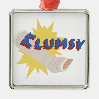 Clumsy Leg Cast Metal Ornament