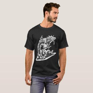 clumsy rattlesnake stuck into the skull cartoon T-Shirt