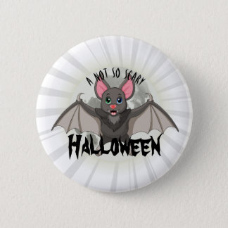Clumsy, The Little Bat & A Not So Scary Halloween 6 Cm Round Badge