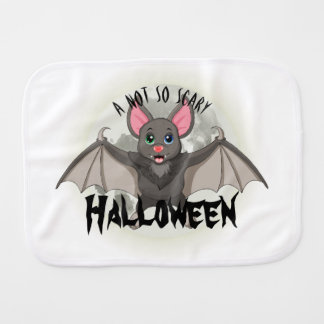 Clumsy, The Little Bat & A Not So Scary Halloween Burp Cloth