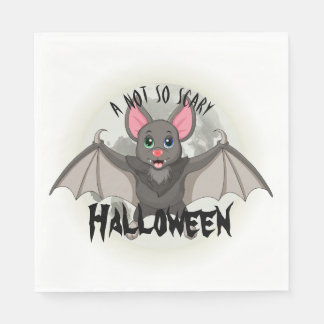 Clumsy, The Little Bat & A Not So Scary Halloween Disposable Serviette