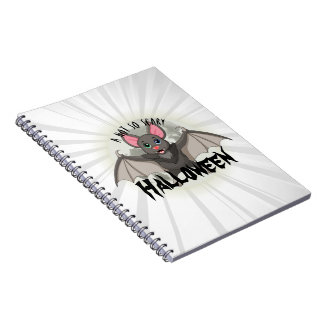 Clumsy, The Little Bat & A Not So Scary Halloween Spiral Notebook