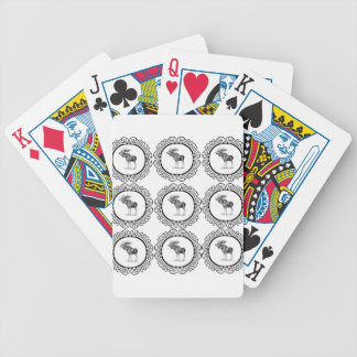 cluster of bull moose bicycle playing cards