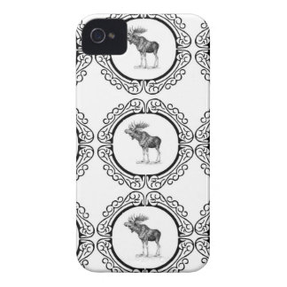 cluster of bull moose iPhone 4 case