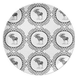 cluster of bull moose plate