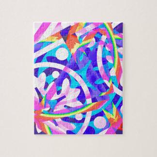 Cluster of Color Violet Variation Jigsaw Puzzle