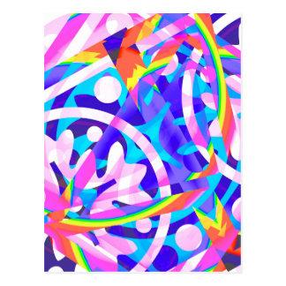 Cluster of Color Violet Variation Postcard