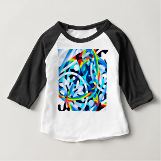 Cluster of Colorful Abstract Shapes Baby T-Shirt