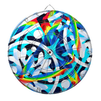 Cluster of Colorful Abstract Shapes Dartboard