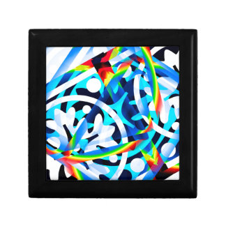 Cluster of Colorful Abstract Shapes Gift Box