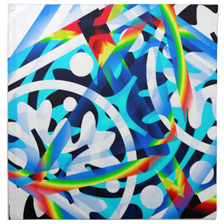 Cluster of colorful Abstract shapes Printed Napkin