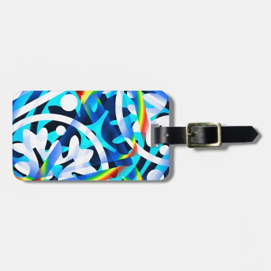 Cluster of Colourful Abstract Shapes Bag Tag