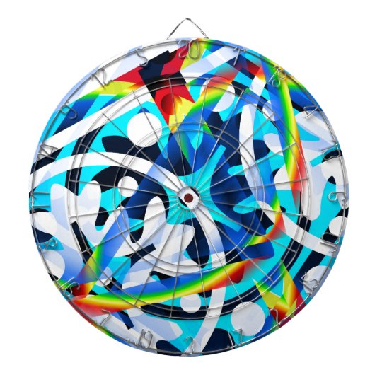 Cluster of colourful Abstract shapes Dartboard
