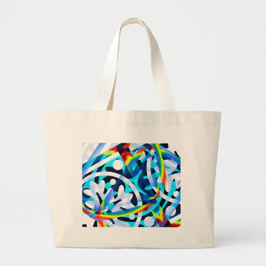 Cluster of Colourful Abstract Shapes Large Tote Bag