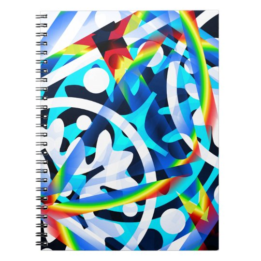 Cluster of colourful Abstract shapes Notebook