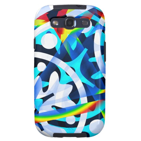 Cluster of colourful Abstract shapes Samsung Galaxy S3 Cover