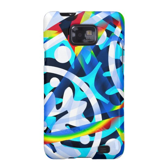 Cluster of colourful Abstract shapes Samsung Galaxy SII Case