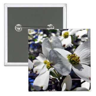 Cluster of Dogwood Tree Flowers Pinback Button