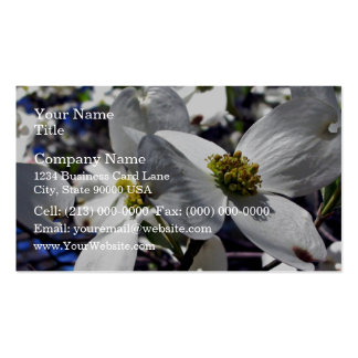 Cluster of Dogwood Tree Flowers Business Card Template