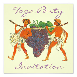 Cluster of Grapes & Togas Toga Party Invitation
