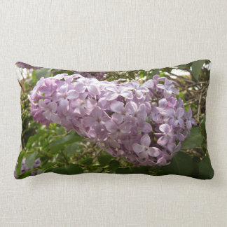 Cluster of Lilac Blossoms Purple Spring Flowers Lumbar Pillow