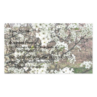Cluster of Pear Tree Blossoms Business Card Template